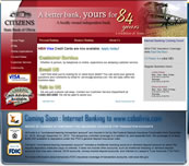 Minnesota Valley Technology Inc., website design for Citizens State Bank of Olivia.  We also specialize in network support for small to medium size businesses.  Branch office connectivity with secure VPN technologies, content filtering to help reduce unwanted employee websurfing on company time, remote managment options, backup solutions, and more... so please call our office to make an appointment.