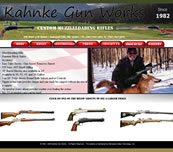 Minnesota Valley Technology Inc., website design for Kahnke Gun Works.  We also specialize in network support for small to medium size businesses.  Branch office connectivity with secure VPN technologies, content filtering to help reduce unwanted employee websurfing on company time, remote managment options, backup solutions, and more... so please call our office to make an appointment.